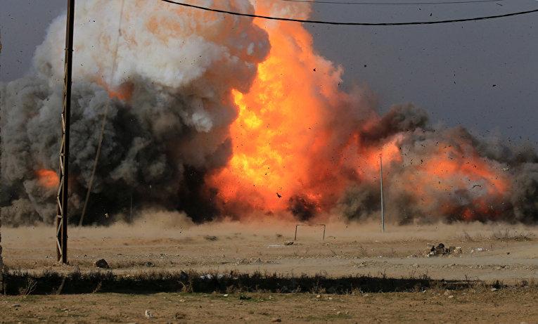Взрыв автомобиля в Мосуле