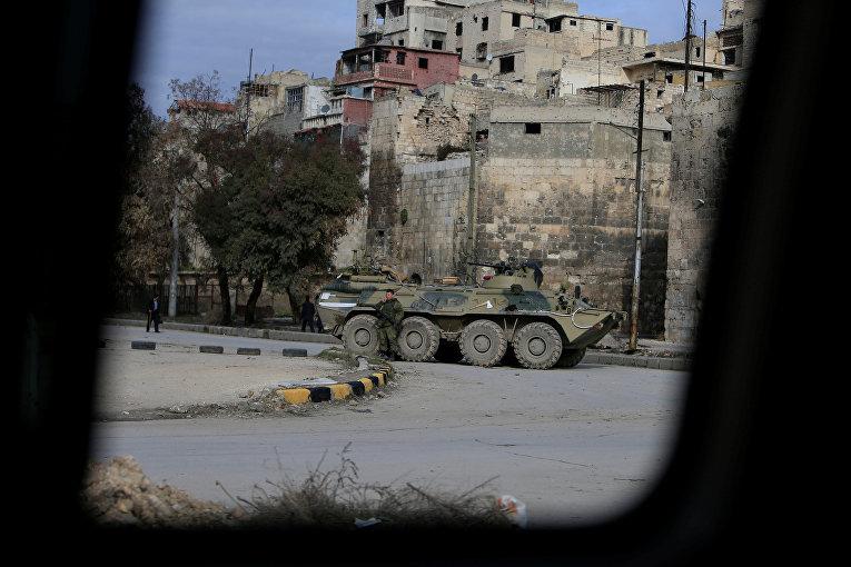 Российские войска в Алеппо