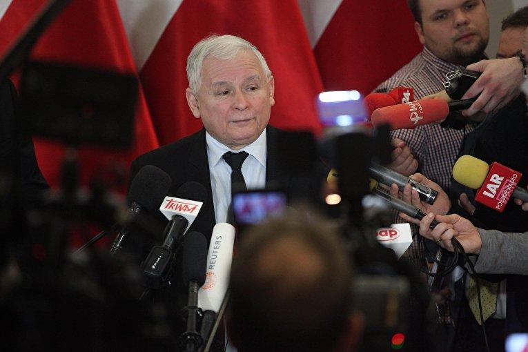 Лидер правящий партии «Право и справедливость» Ярослав Качиньский