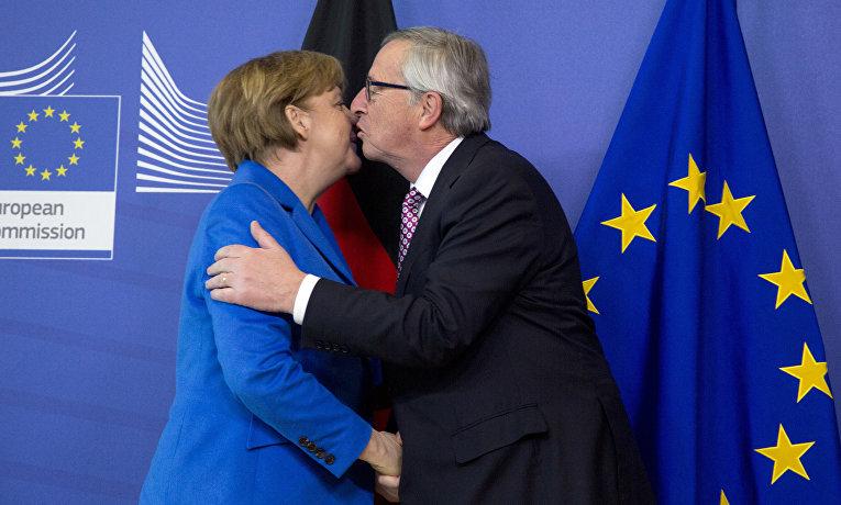 Канцлер Германии Ангела Меркель и председатель Европейской комиссии Жан-Клод Юнкер