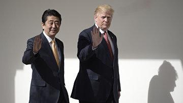Президент США Дональд Трамп и премьер-министр Японии Синдзо Абэ