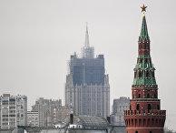 Реконструкция шпиля на здании Министерства иностранных дел РФ Москвы