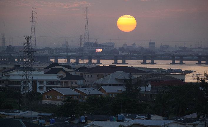 Закат в Лагосе, Нигерия