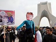 Митинг, посвященный годовщине исламской революции в Тегеране