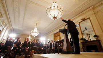 Президент США Дональд Трамп во время пресс-конференции. 16 февраля 2017