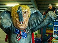 Каррикатура на Трампа на карнавале в Германии
