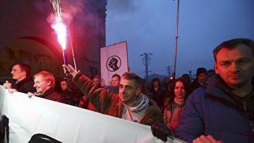 Акция протеста против новых налогов и повышения тарифов на коммунальные услуги в Минске