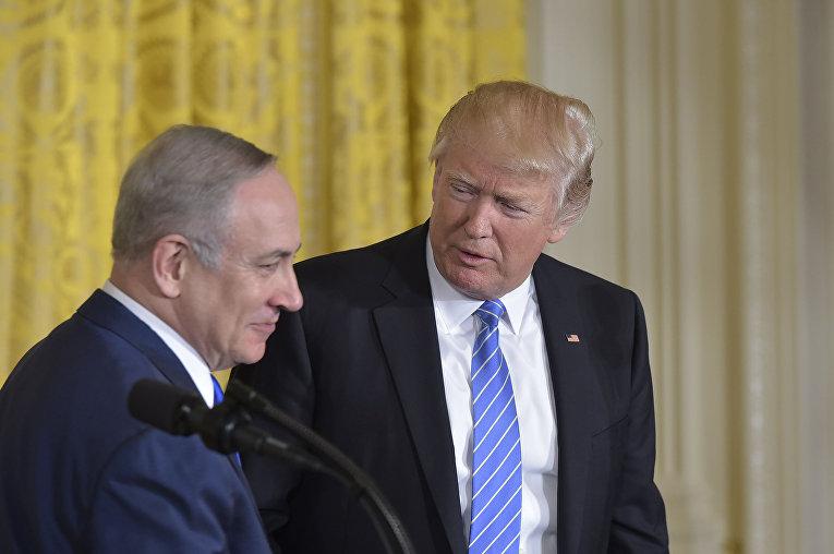 Президент США Дональд Трамп и премьер-министр Израиля Биньямин Нетаньяху