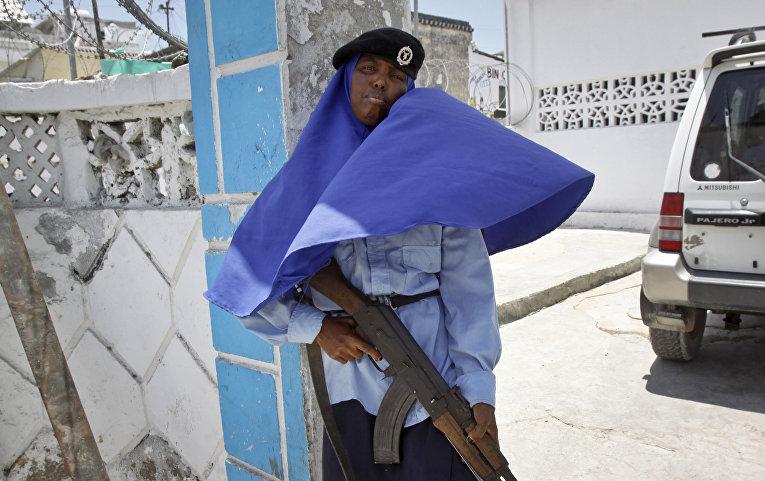 Сомалийская военнослужащая