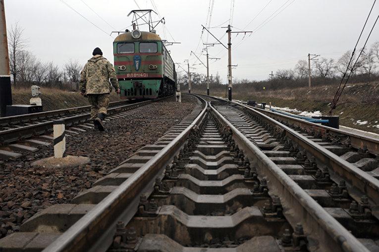 Блокада на железнодорожной станции Кривой Торец в Донецкой области