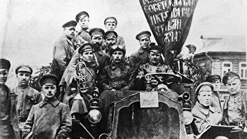 Участники Октябрьской революции Пресненского района города Москвы