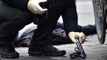 На месте убийства бывшего депутата Госдумы России Дениса Вороненкова в Киеве, Украина. 23 марта 2017