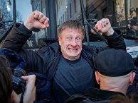 Участник антикоррупционного митинга в Москве