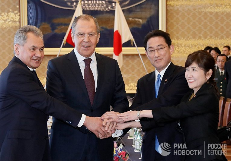 Переговоря России и Японии в формате «два плюс два» в Токио