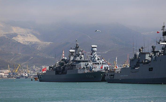 Визит отряда боевых кораблей ВМС Турции в Новороссийск