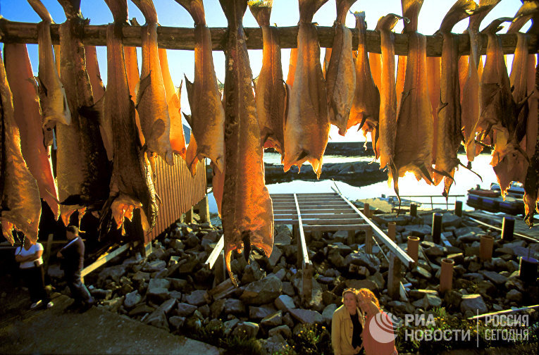 В рыбацком посёлке на севере Норвегии