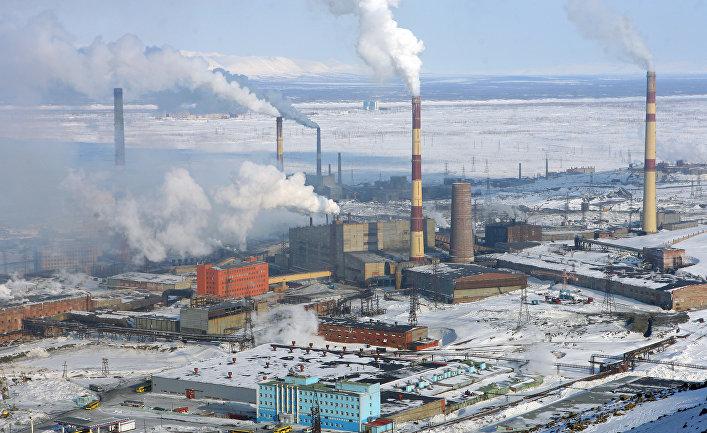 Никелевый завод в Норильске