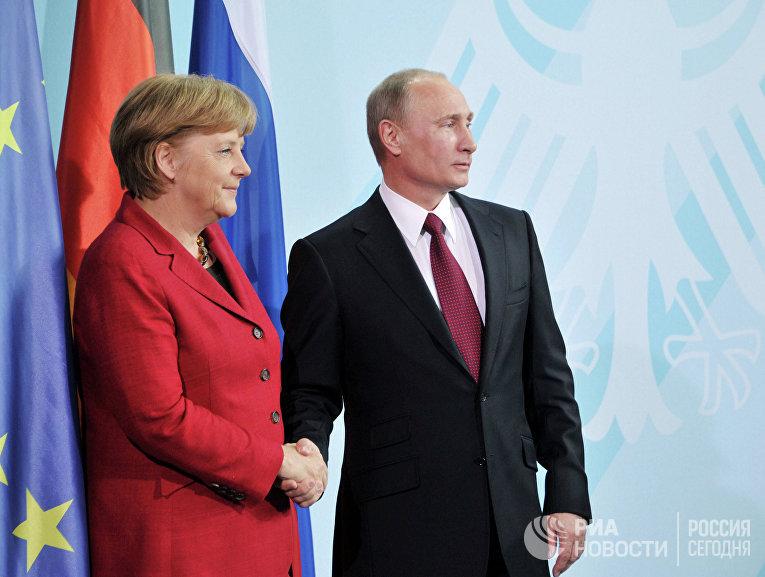 Рабочая поездка президента РФ Владимира Путина в Берлин