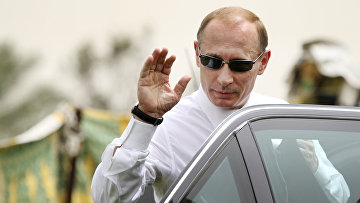 Президент России Владимир Путин во время визита в Ливию