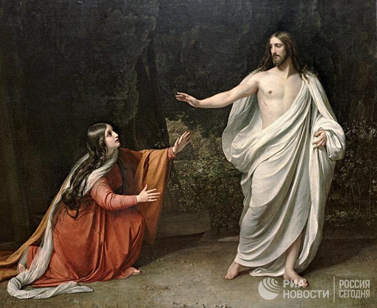 Картина Александра Иванова «Явление Христа Марии Магдалине после Воскресения»