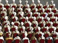 Кардиналы на первой мессе папы Франциска в Ватикане