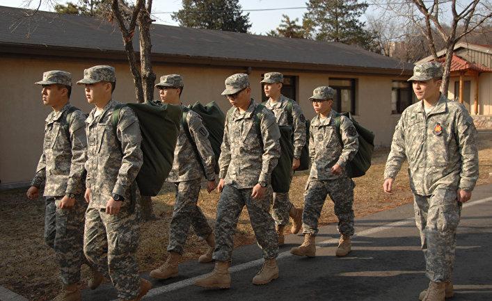 Южнокорейские солдаты в армии США