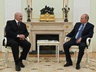 Президент РФ Владимир Путин и президент Белоруссии Александр Лукашенко во время встречи в Москве. 22 ноября 2016