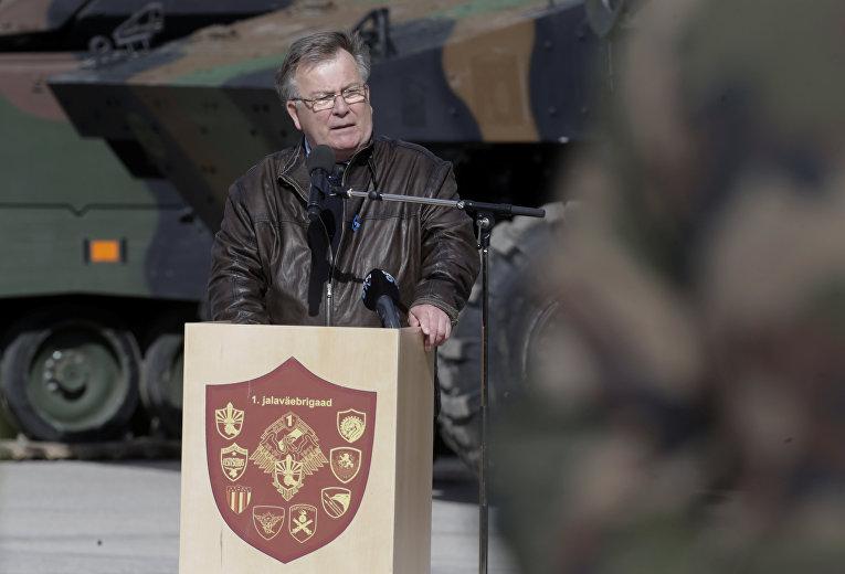 20 апреля 2017. Министр обороны Дании Клаус Йорт Фредериксен в Эстонии