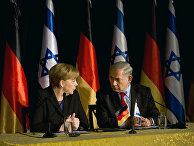 25 февраля 2014 года. Премьер-министр Израиля Биньямин Нетаньяху и канцлер Германии Ангела Меркель выступили на пресс-конференции в Иерусалиме