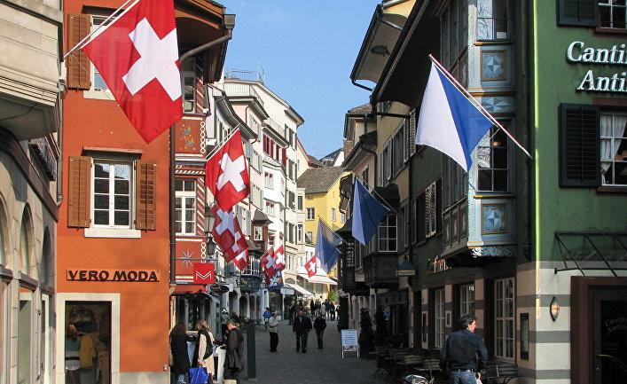Улица Аугустинергассе в Цюрихе