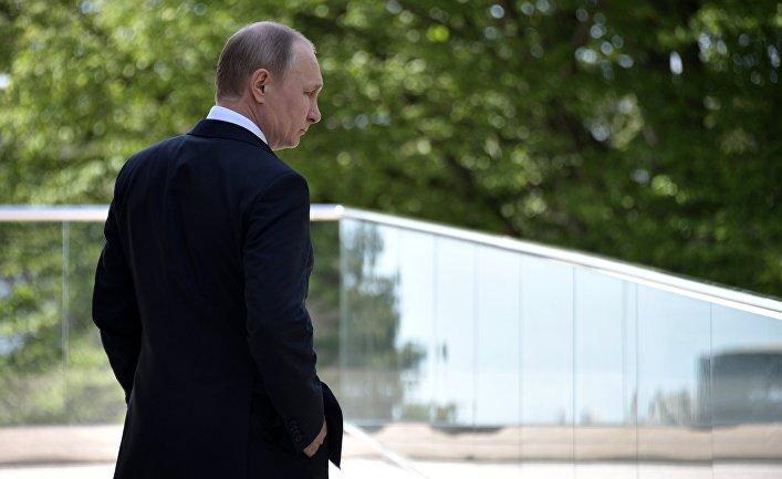 Президент РФ Владимир Путин перед началом встречи с федеральным канцлером ФРГ Ангелом Меркель. 2 мая 2017