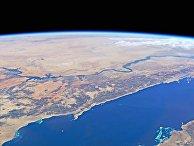 Красное море и река Нил снятые с МКС