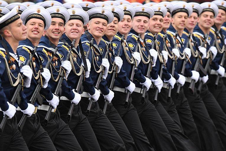 Российские моряки на Параде Победы на Красной площади