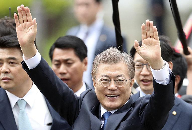 Новый президент Южной Кореи Мун Чжэ Ин. 10 мая 2017