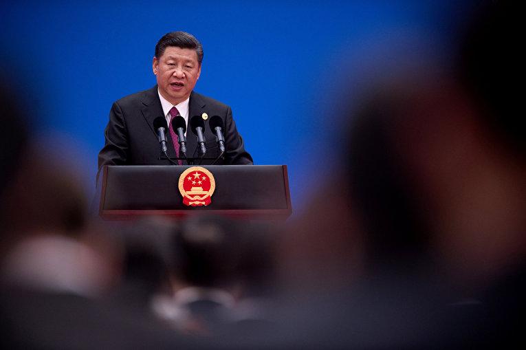 15 мая 2017. Китайский президент Си Цзиньпин на форуме «Один пояс— один путь».