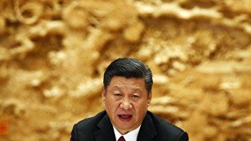 Президент Китая Си Цзиньпин на форуме «Один пояс - один путь» в Пекине