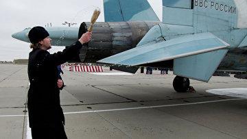 Освящение самолетов Су-27