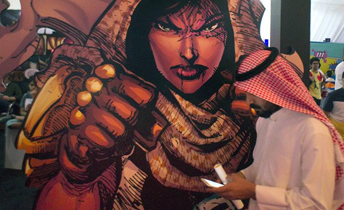 Изображение саудовской женщины супергероя