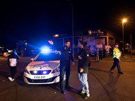 Полиция возле «Манчестер-Арены», где прогремели взрывы