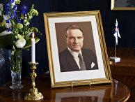 Портрет экс-президента Финляндии Мауно Койвисто