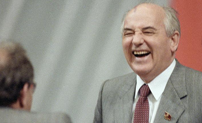 Горбачев на XXVIII съезде КПСС