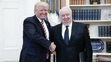 Посол Сергей Кисляк и президент США Дональд Трамп. 10 мая 2017