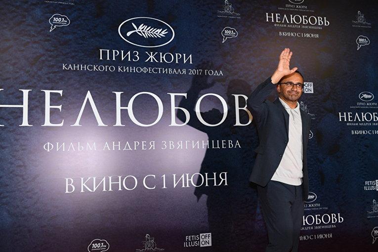 """Режиссер Андрей Звягинцев на премьере своего фильма """"Нелюбовь"""""""