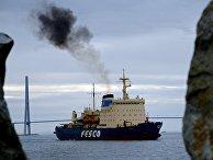Прибытие ледокола «Красин» в порт Владивостока