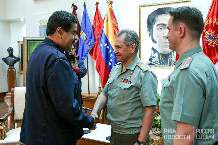 Официальный визит министра обороны РФ С.Шойгу в Венесуэлу