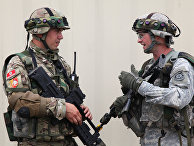 Военнослужащие Черногории и США во время совместных учений