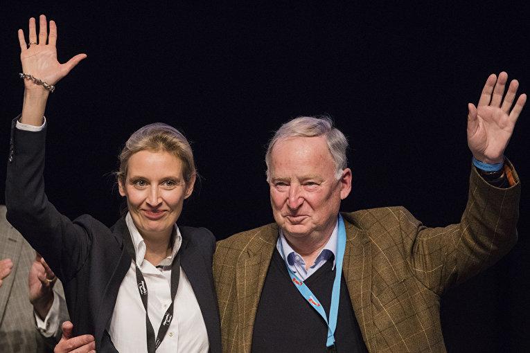 Алиса Вайдел и Александр Гауланд на съезде партии АдГ в Кельне