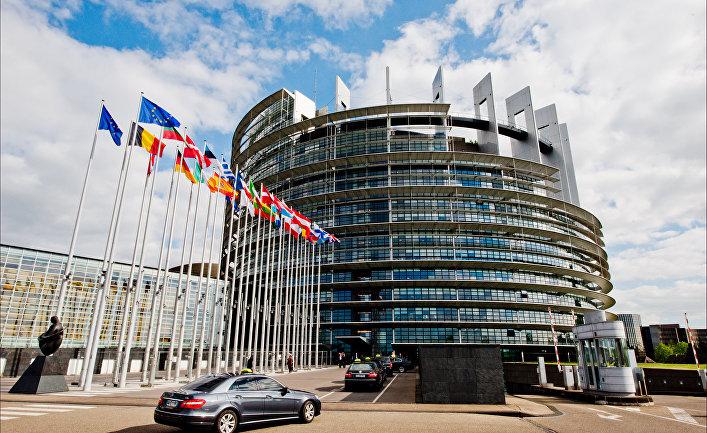 Здание Европейского парламента в Страсбурге, Франция