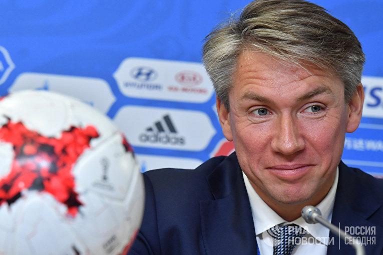 Генеральный директор Организационного комитета по подготовке и проведению чемпионата мира по футболу «Россия-2018» Алексей Сорокин