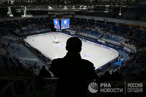 Ледовый дворец «Айсберг» в Олимпийском парке в Сочи